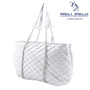 Geanta argintie oversized Meli Melo