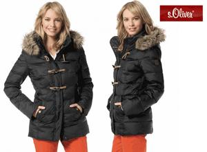 Geaca iarna cu puf natural S.Oliver un brand original