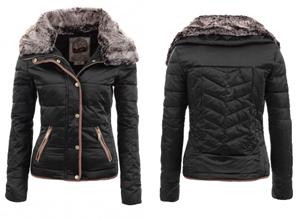 Geaca de iarna pentru femei Fur Black