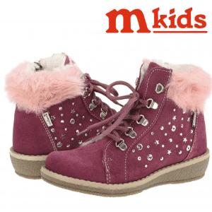 Ghetute de toamna pentru fetite Melania Kids Prugna