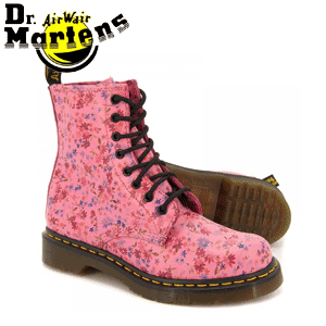 Ghete femei Dr.Martens 1460 Little Flowers Acid Pink