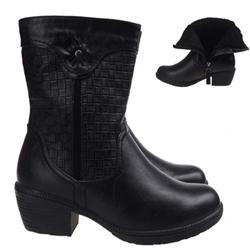Ghete negre elegante imblanite pentru iarna
