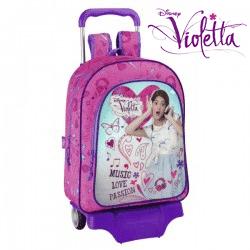 Ghiozdan troler Violetta pentru scoala - Ghiozdan detasabil de troller