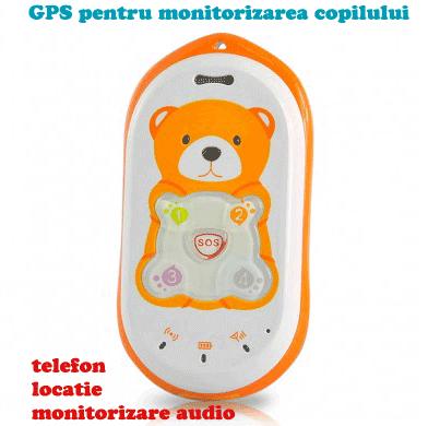 GPS Tracker pentru monitorizarea locatiei copilului cu functie audio