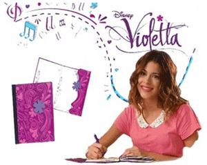 Jurnalul identic al Violettei confectionat din carton cu inchidere metalica