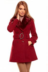 Palton de dama Fantasy Fur Wine