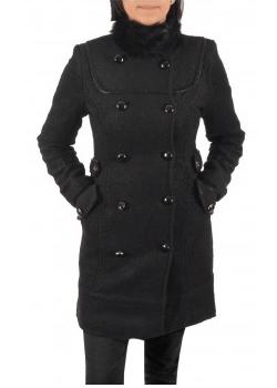 Palton de dama din stofa LaFemme. Cambrat si calduros pentru iarna.