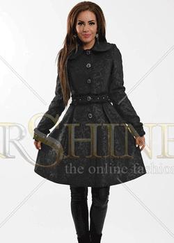 Palton elegant decorat La Donna Delicate in oferta StarShiners.ro