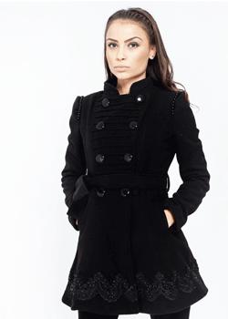 Palton de dama Brooklyn cu dantela