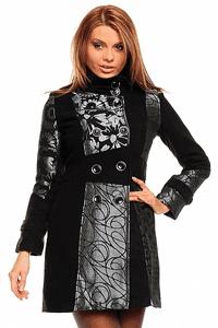Palton scurt elegant de dama Charm Silver Lady din blana - moda toamna iarna femei