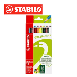 Creioane colorate Stabilo GreenColours