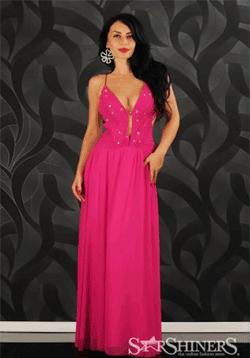 Rochie de seara Mexton Majestic Pink - o rochie eleganta de la Starshiners