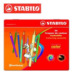 Set creioane colorate Stabilo ideale pentru copiii de gradinita si scoala