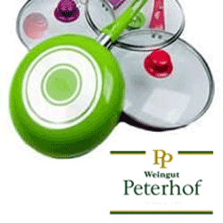 Set 3 tigai de ceramica profesionale cu capac Peterhoff la pret redus