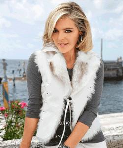 Vesta FashionDays din blana ecologica