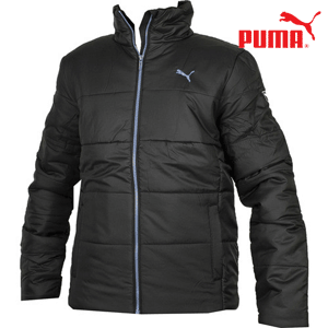 Geaca Puma Padded Jacket Black - o geaca sport, barbateasca, de iarna