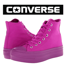 Bascheti fete Converse cu platforma
