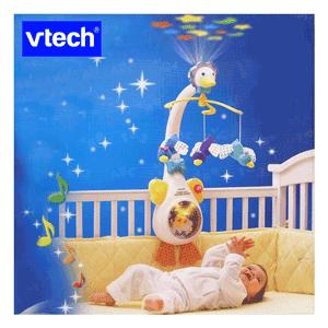 Carusel si proiector muzical VTech pentru patut