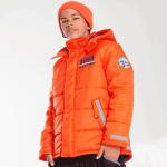 Geaca de iarna pentru baieti si fetite Orange