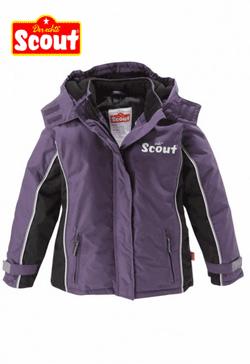 Geaca de iarna cu benzi reflectorizante Scout pentru fetite. Gecute pentru fete ideale pentru iarna