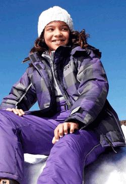 Geaca de iarna pentru fete Scout cu benzi reflectorizante