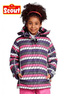 Gecuta de iarna in carouri colorate pentru fetite de gradinita si scoala
