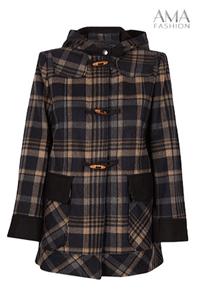 Jacheta de toamna din lana si gluga de dama