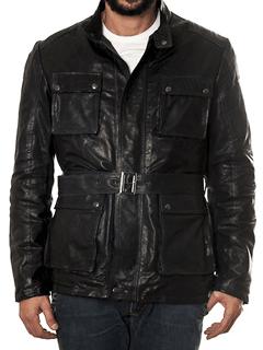 Jacheta din piele de miel Mangotti, pentru barbati, perfecta pentru o iarna trendy