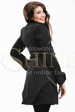 Palton dama LaDonna City Elegance negru
