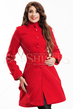 Palton dama LaDonna City Elegance Rosu