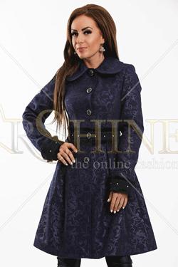 Palton LaDonna Delicate Waist Dark Blue