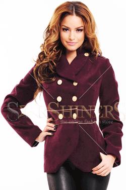 Palton dama LaDonna Finest Line Burgundy
