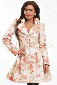 Palton LaDonna Natural Harmony Flowers - imbracaminte romantica