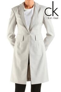 Palton scurt de dama Calvin Klein de culoare alba