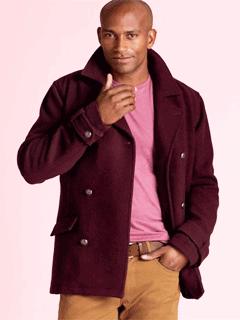 Palton scurt din lana pentru barbati