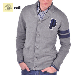 Pulover Cardigan barbati Puma Knitted Varsity
