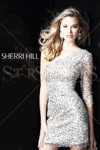 Rochie scurta cu paiete Sherri Hill