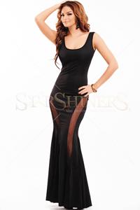 Rochie lunga eleganta usor elastica