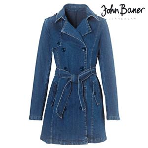 Trenci Jeans John Baner. Trenci de dama din denim
