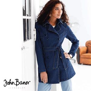 Trenci dama din denim John Baner - Jeans de calitate premium