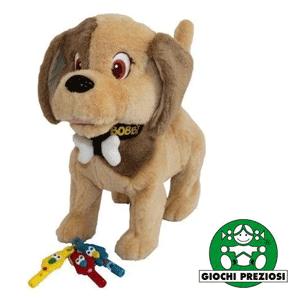 Catelusul Bobby Dog maro sau negru, cu fluiere, de la Giochi Preziosi