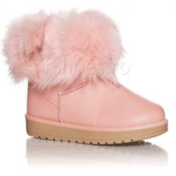 Cizme roz UGG impermeabile Fluffy
