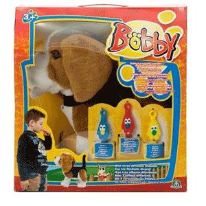 Jucarie inteligenta Catelus Bobby maro cu fluiere