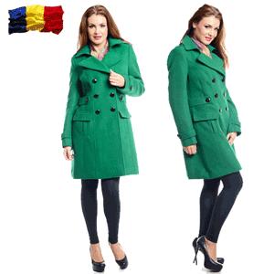 Paltoane iarna, din lana, fabricate in Romania, de dama