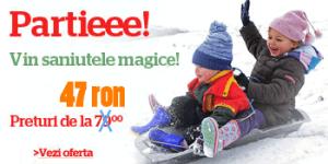 Saniute si jucarii de zapada pentru copii mici si mari