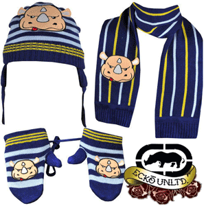 Set copii Fes Fular Manusi Ecko Unlimited Nino Bundle Beanie, Gloves, Scarf