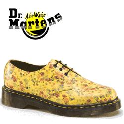 Pantofi Piele Dr Martens Little Flowers de culoare galbena