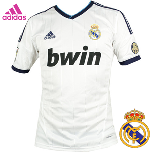 Tricou fotbal Adidas Real Madrid, echipament cu emblema Real