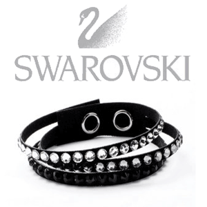 Bratara Triband Alcantara Swarovski - cadou pentru ea Valentine`s Day