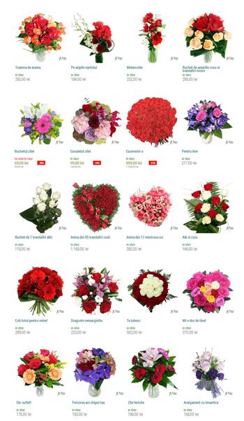 Comenzi online de flori si aranjamente florale, la floraria Online Floria